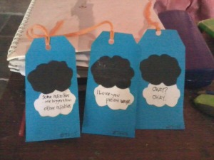 handmade bookmarks tfios